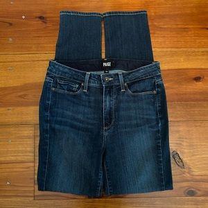 PAIGE Jeans 'Hoxton Crop Rollup' Sz 27 EUC